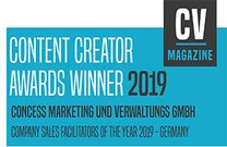 Content Creator Awards Winner 2019 • concess